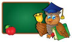 Stock Illustration of Owl teacher theme image - eps10 vector illustration.