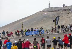 The Cyclist Thomas Voeckler Climbing Mont Ventoux - Tour de France 2013 Stock Photos