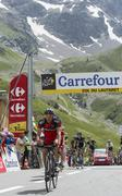 The Cyclist Amael Moinard on Col du Lautaret - Tour de France 2014 Stock Photos