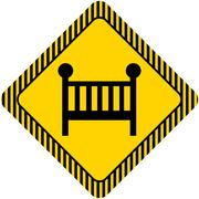 Baby bed - stock illustration