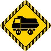 Dump truck - stock illustration