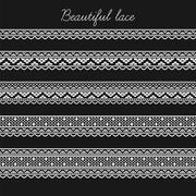 Beautiful lace segments for scrapbooking, card decoration etc Stock Illustration