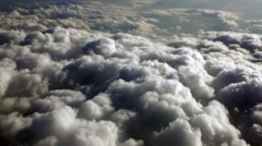 Flight above clouds, cudscape. Background. Stock Footage