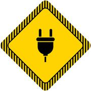 Plug icon - stock illustration
