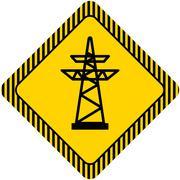 Power transmission line - stock illustration