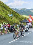 The Fight - Tour de France 2014 - stock photo