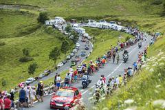 Tour de France Landscape - Tour de France 2014 Stock Photos