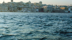 Ferry Ride from Eminonu in Bosphorus Stock Footage