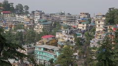 Town view,McLeod Ganj,Himachal Pradesh,India Stock Footage