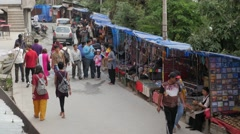 Souvenir stalls,McLeod Ganj,Himachal Pradesh,India Stock Footage