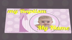 Book Baptism Girl Stock After Effects
