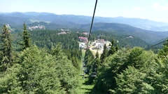 Descent with the lift of peak Snejanka. Stock Footage