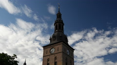 The Oslo Cathedral in Norway Stock Footage