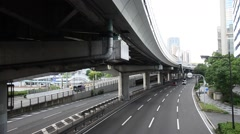 Traffic road at Kobe city in Kobe, Japan Stock Footage