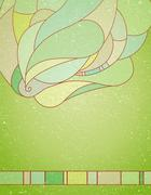 Vintage background with abstraction. - stock illustration