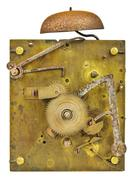 Inner workings of an old fashioned clock Stock Photos