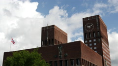 Oslo City Hall Stock Footage
