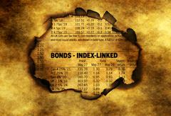 Bonds index on grunge background Stock Photos