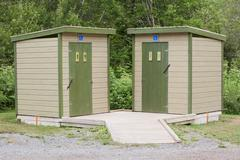 Outdoor Restroom Facilities - stock photo