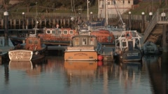 Girvan Harbour, South Ayrshire, Scotland (static) Stock Footage