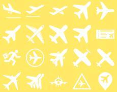 Aviation Icon Set - stock illustration
