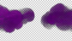 Animated toxic purple gas filling up whole screen b in 4k Stock Footage