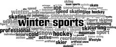 Stock Illustration of Winter sports word cloud