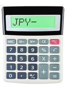 Calculator with JPY - stock photo