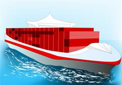 Stock Illustration of container ship
