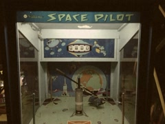 Vintage Stylized 8mm Space Pilot Classic Arcade Game Stock Video - stock footage