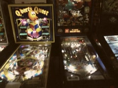 Stock Video Footage of Vintage Stylized 8mm Pinball Arcade Stock Video