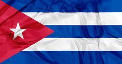 Cuba flag - stock illustration