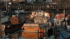 Girvan Harbour, South Ayrshire, Scotland (panning up) Stock Footage