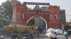 Gandhi gate with traffic,Amritsar,Punjab,India Stock Footage