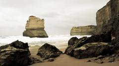 Twelve Apostles Coast Australia - stock photo