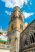 The bell tower of the Cathedral of St. Andrew, Amalfi Stock Photos