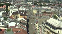 Town Olomouc, square Narodnich hrdinu, time lapse Stock Footage