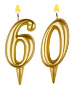 Birthday candles number sixty Stock Photos