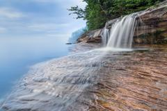 Elliot Falls at Nightfall - stock photo