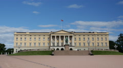 Royal Palace, Oslo Norway Stock Footage