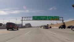 Los Angeles 405 Freeway Sign - stock footage