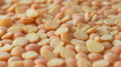 Scattered yellow peas Stock Footage
