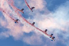 Falcons Parachute Display Team - stock photo