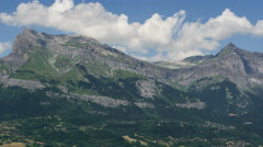 Mountain ridge in Haute Savoie Alps summer time lapse 4K Stock Footage