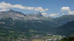 Passy city in Haute Savoie Alps summer time lapse 4K Stock Footage