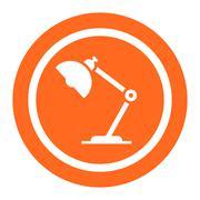 Desk lamp - stock illustration
