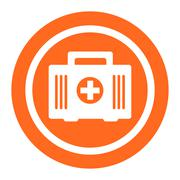 First aid kit icons - stock illustration