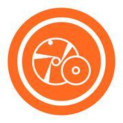 Grinding wheel - stock illustration