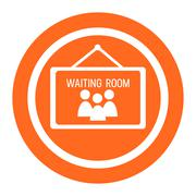 Waiting room icons - stock illustration