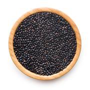 Beluga. Black lentil. - stock photo